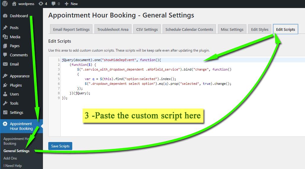 adding custom script