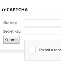 Configure reCAPTCHA Add-On